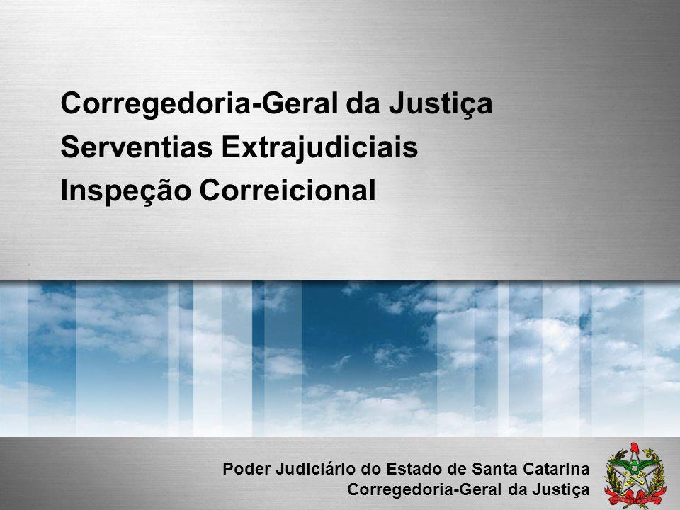 Corregedoria-Geral da Justiça Serventias Extrajudiciais Inspeção Correicional