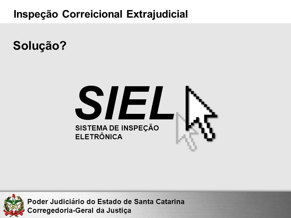 Solução SIEL SISTEMA DE INSPEÇÃO ELETRÔNICA