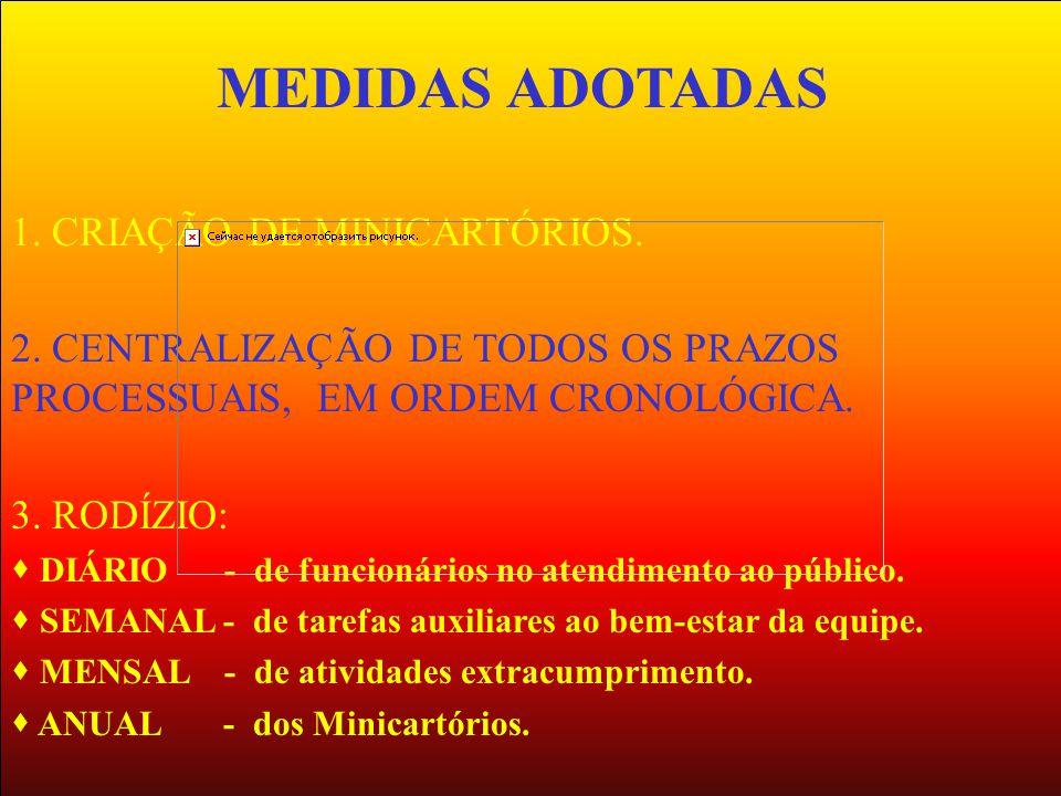 MEDIDAS ADOTADAS 1. CRIAÇÃO DE MINICARTÓRIOS.