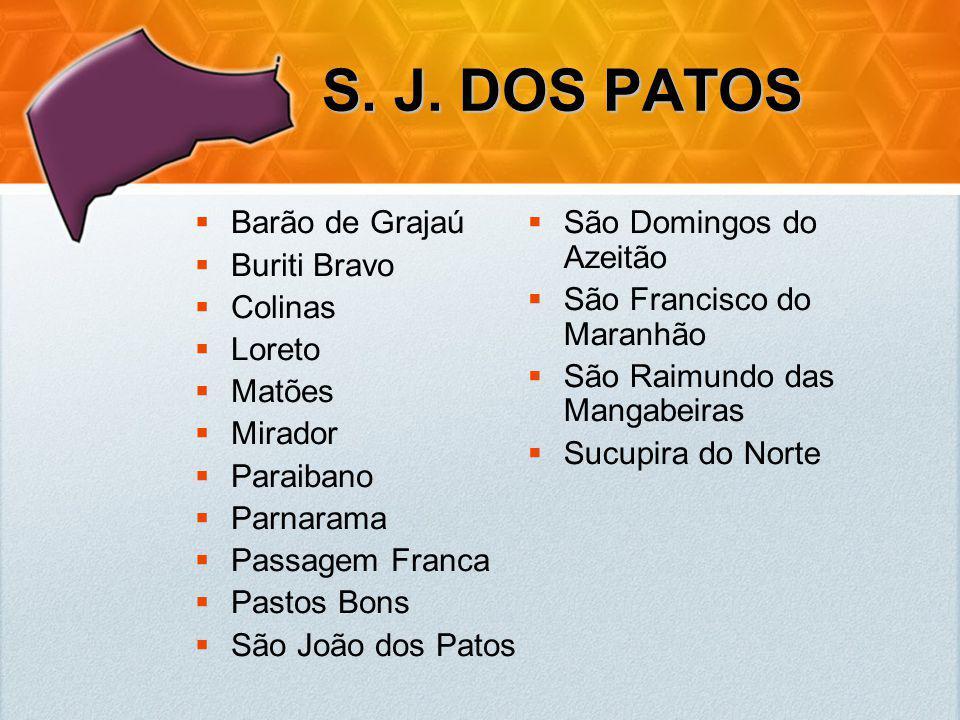 S. J. DOS PATOS Barão de Grajaú Buriti Bravo Colinas Loreto Matões