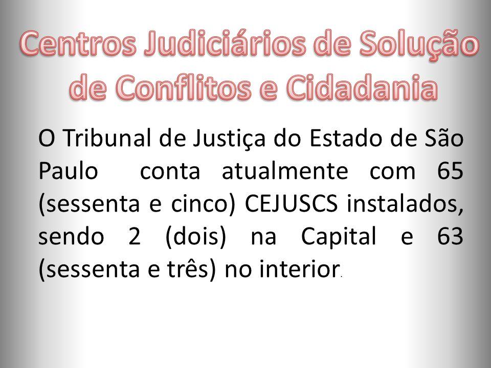Centros Judiciários de Solução de Conflitos e Cidadania