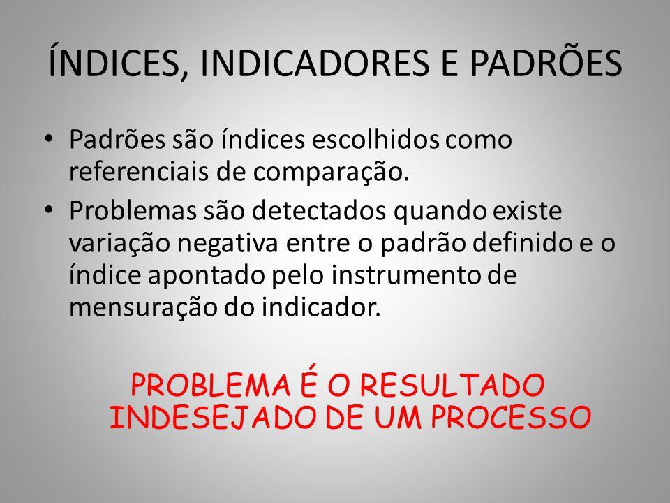 ÍNDICES, INDICADORES E PADRÕES