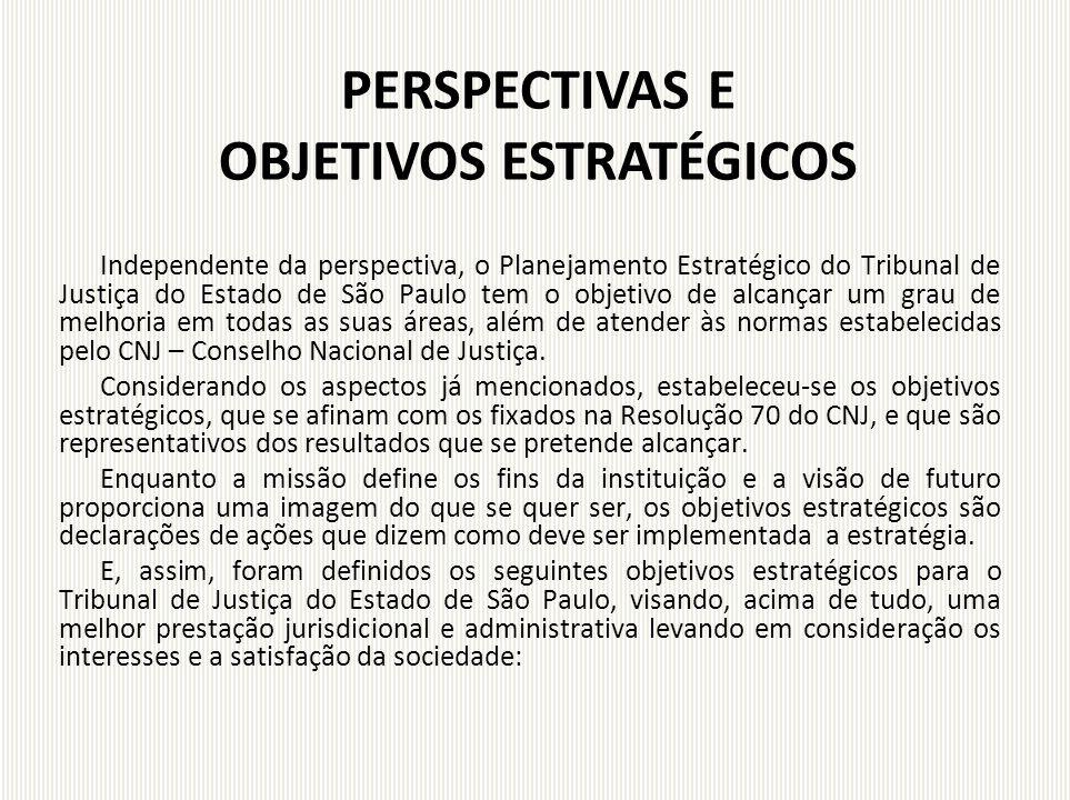 PERSPECTIVAS E OBJETIVOS ESTRATÉGICOS