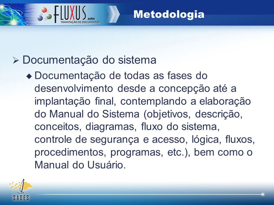 Documentação do sistema
