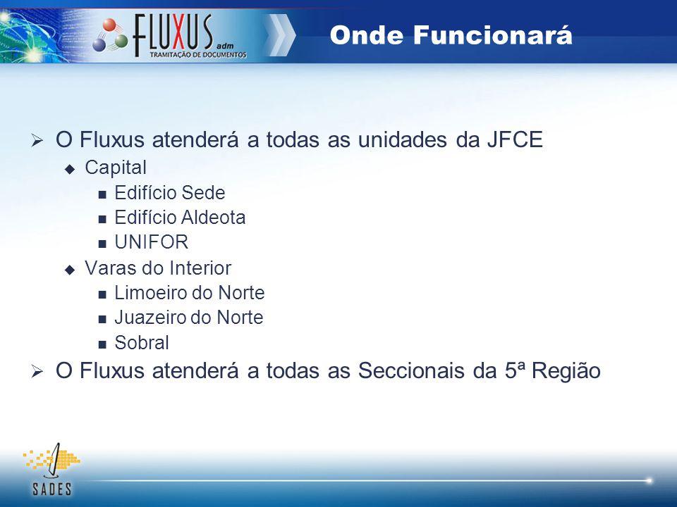 Onde Funcionará O Fluxus atenderá a todas as unidades da JFCE
