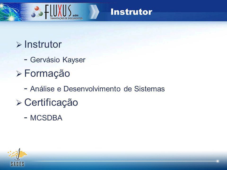 - Análise e Desenvolvimento de Sistemas Certificação - MCSDBA