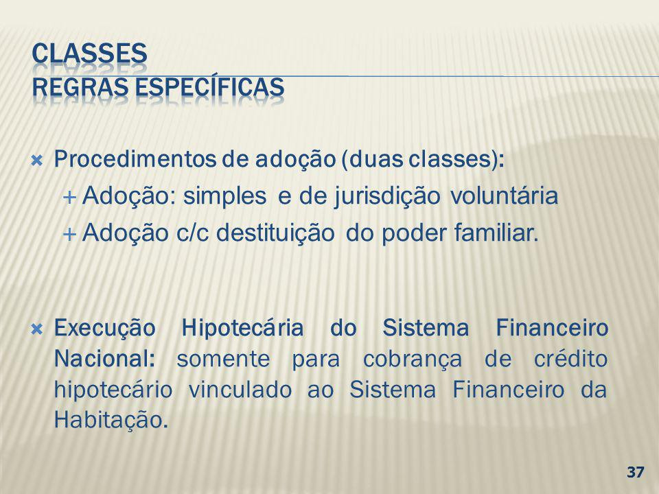 CLASSES Regras específicas