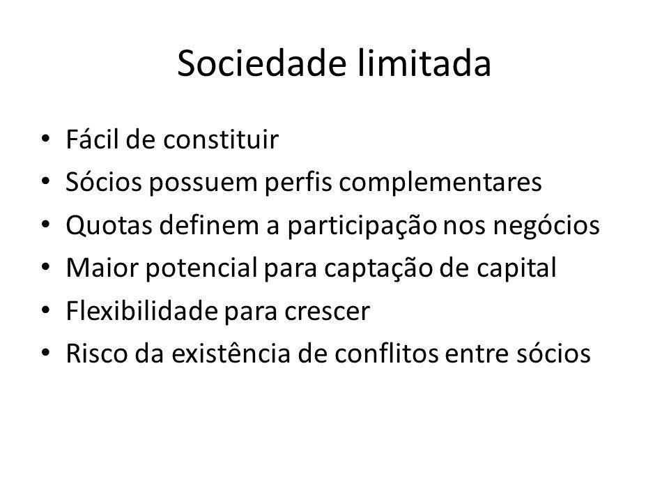 Sociedade limitada Fácil de constituir