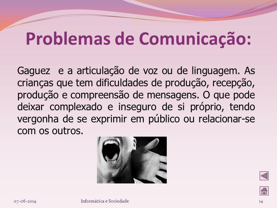 Problemas de Comunicação: