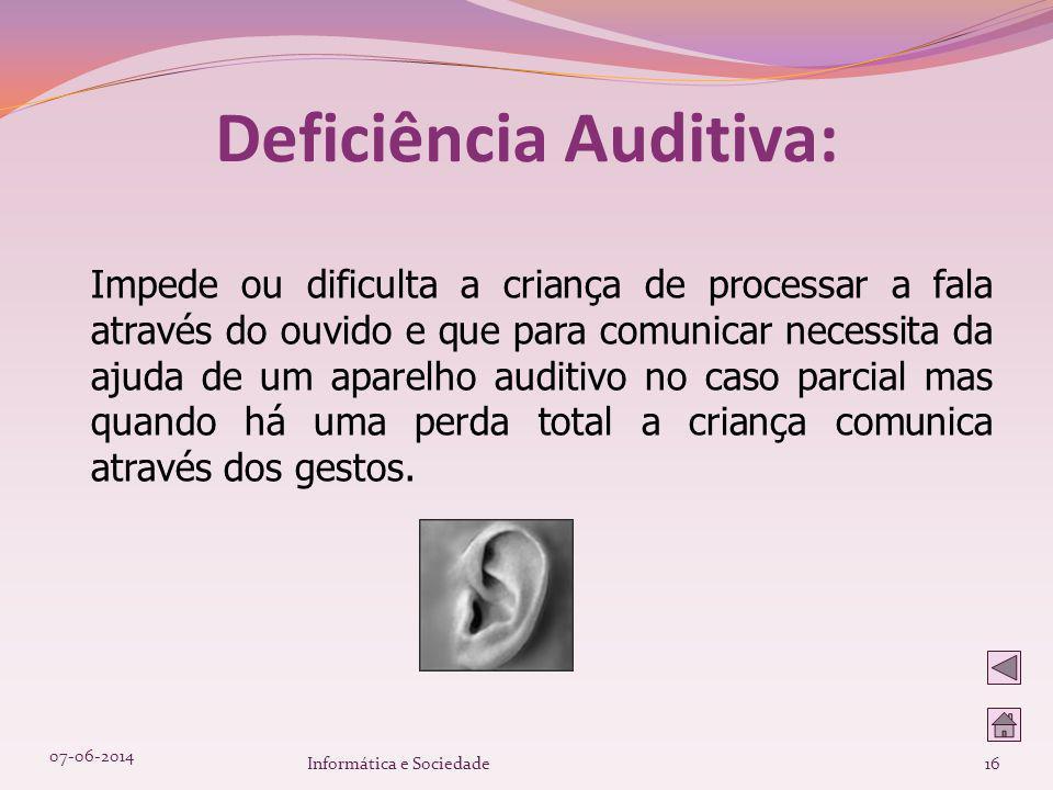 Deficiência Auditiva: