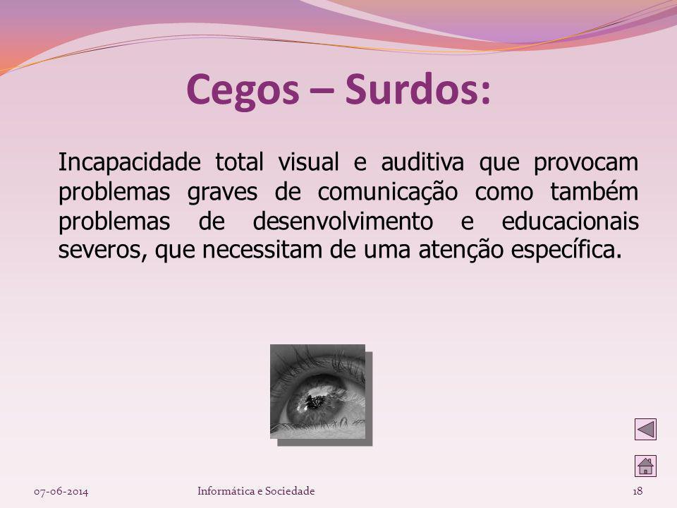 Cegos – Surdos: