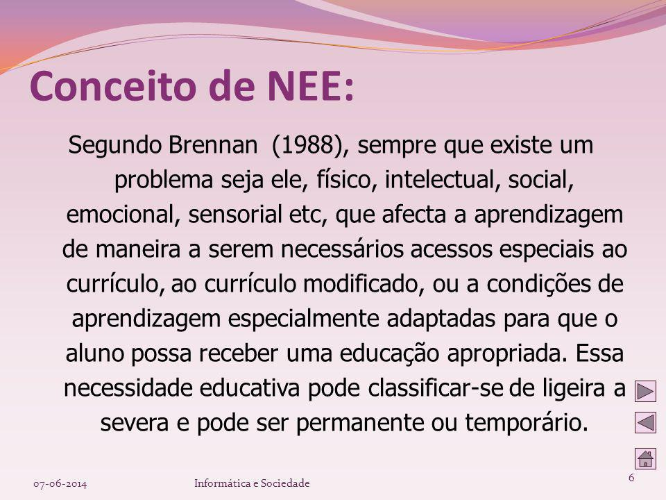 Conceito de NEE:
