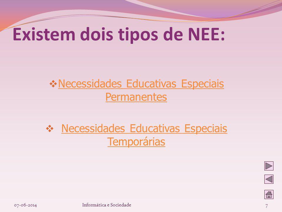 Existem dois tipos de NEE: