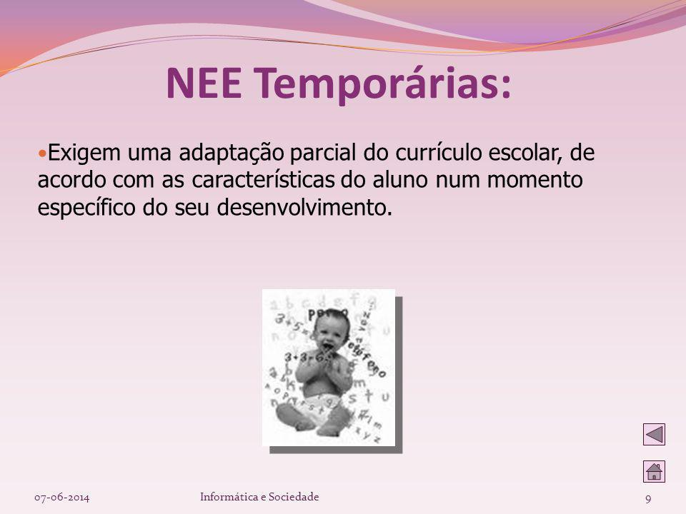NEE Temporárias: