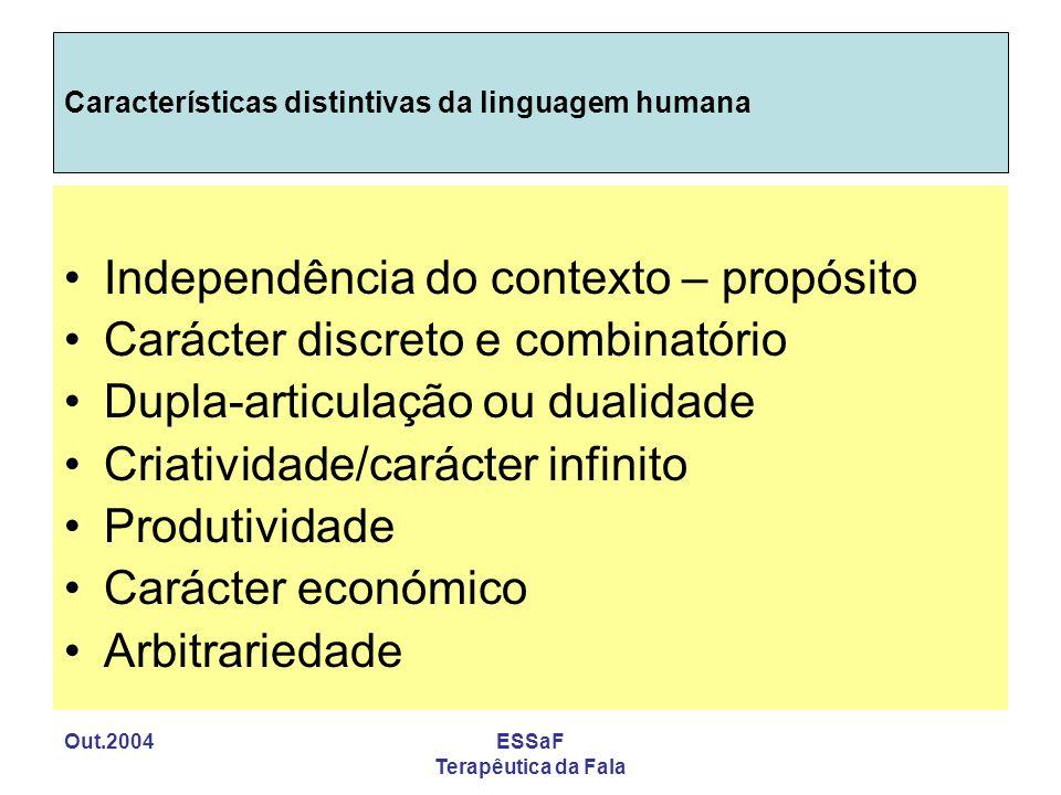 Características distintivas da linguagem humana