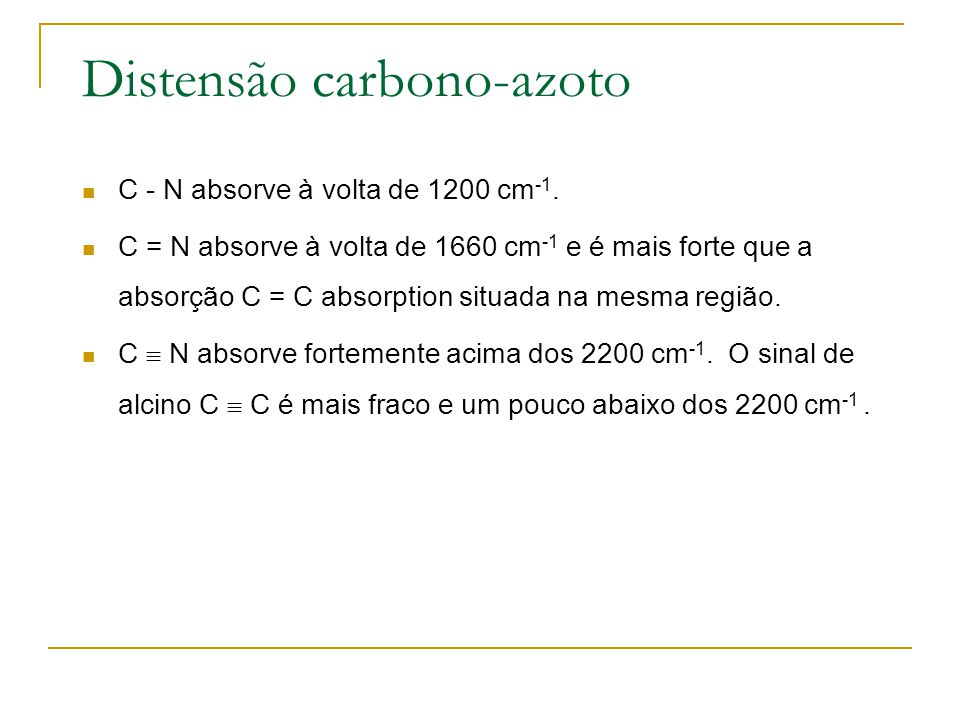 Distensão carbono-azoto