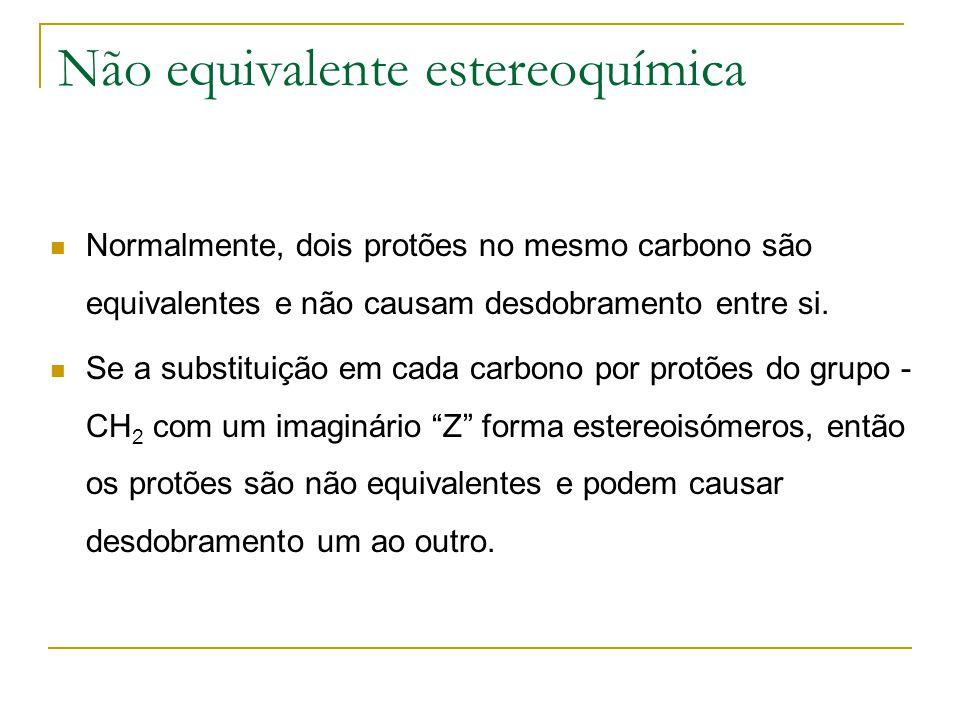 Não equivalente estereoquímica