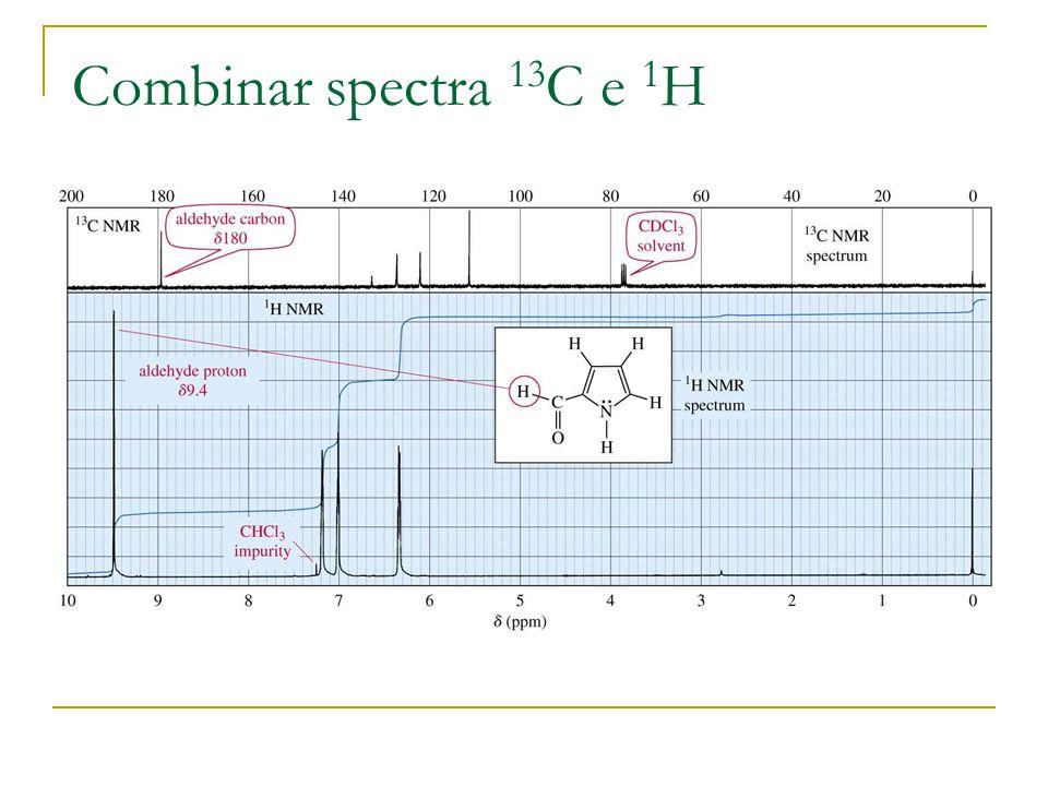 Combinar spectra 13C e 1H
