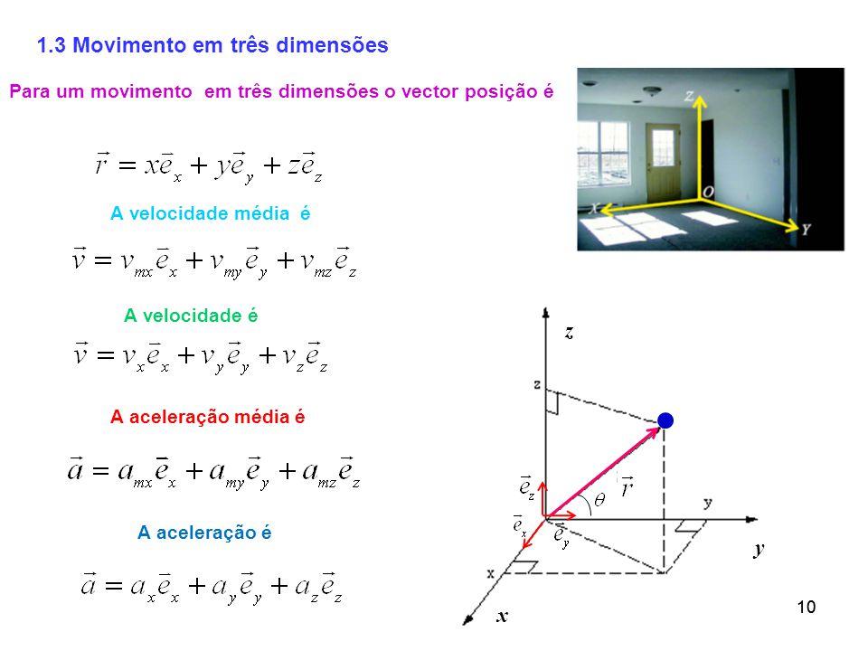 1.3 Movimento em três dimensões