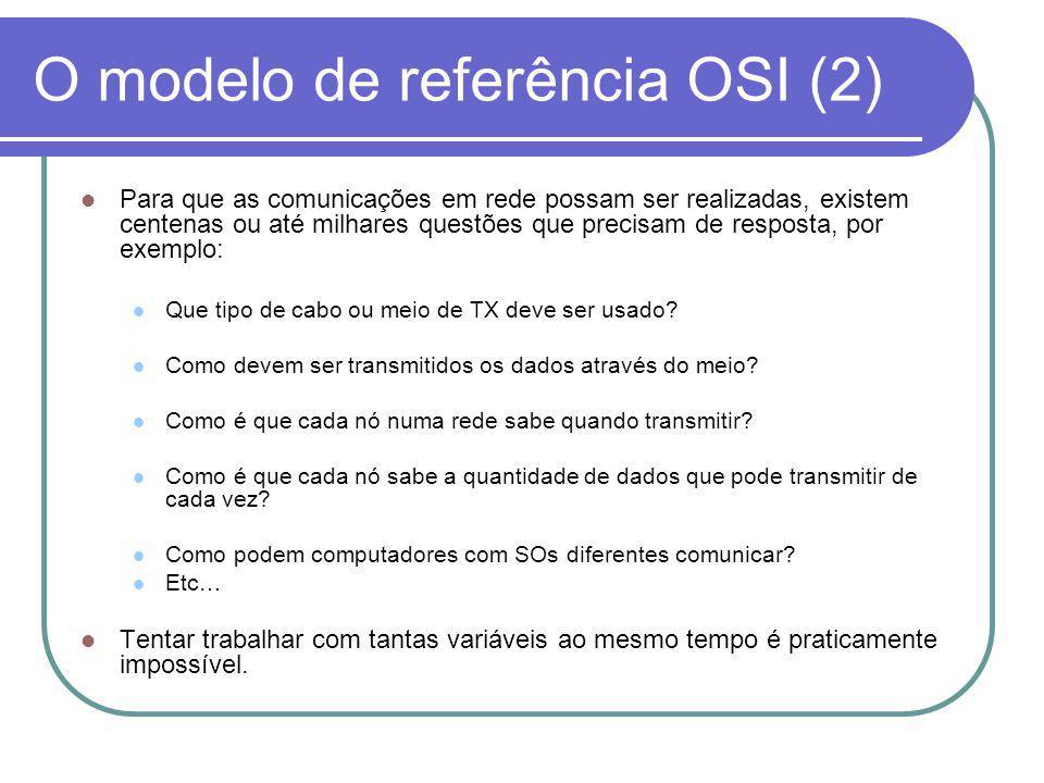 O modelo de referência OSI (2)