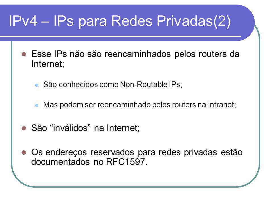 IPv4 – IPs para Redes Privadas(2)