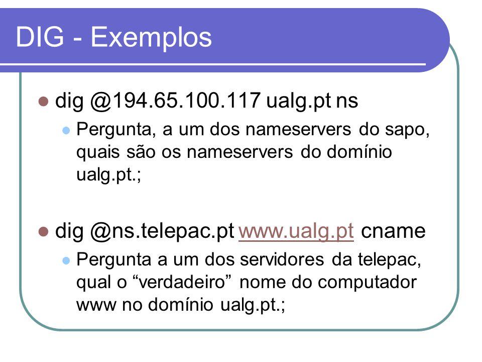 DIG - Exemplos dig @194.65.100.117 ualg.pt ns