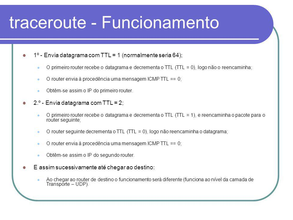traceroute - Funcionamento