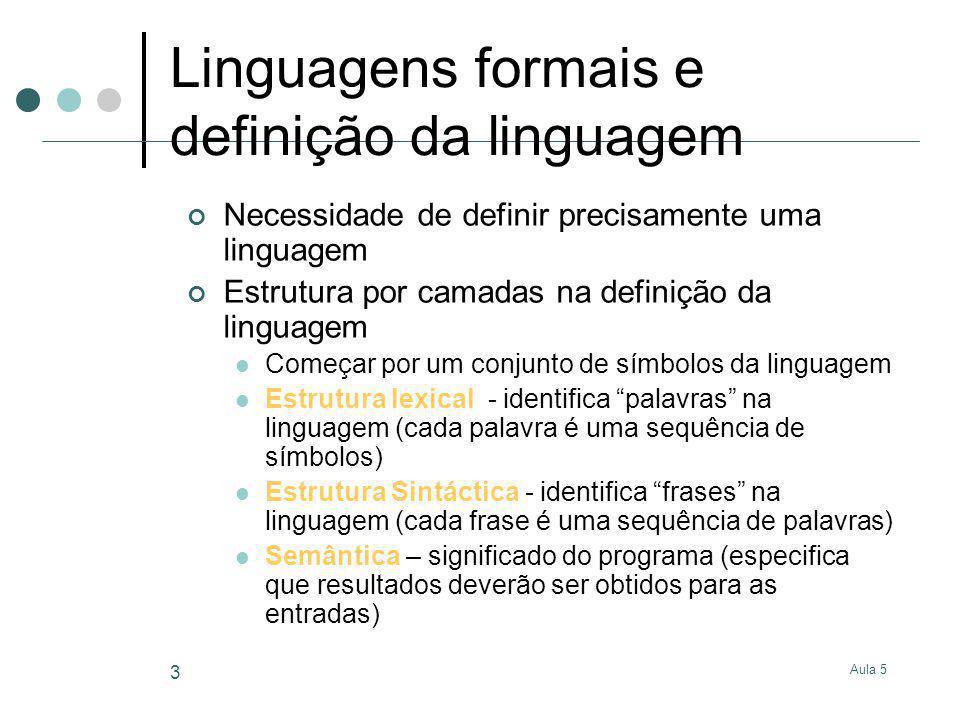 Linguagens formais e definição da linguagem