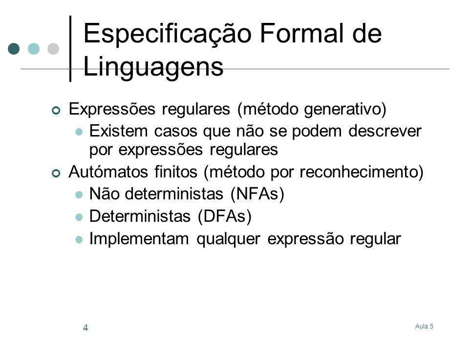 Especificação Formal de Linguagens