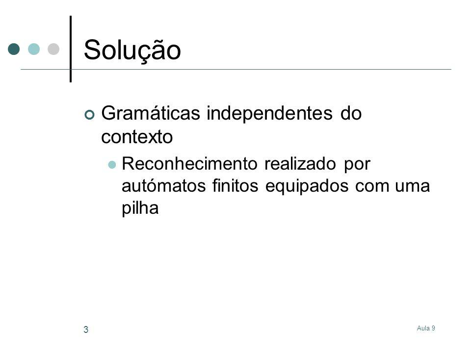 Solução Gramáticas independentes do contexto
