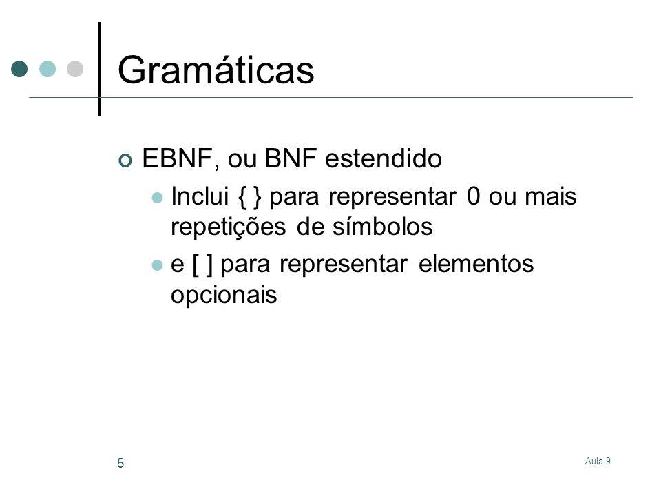 Gramáticas EBNF, ou BNF estendido