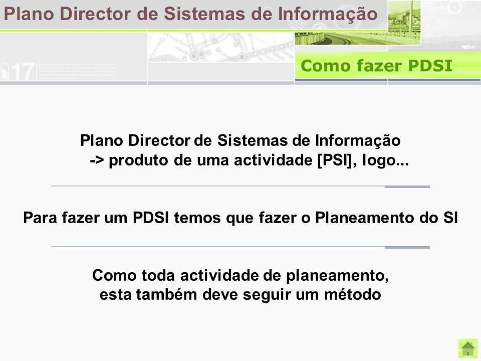 Plano Director de Sistemas de Informação