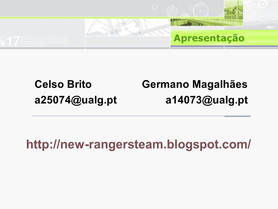 http://new-rangersteam.blogspot.com/ Celso Brito a25074@ualg.pt