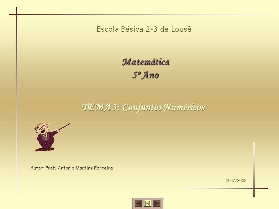 TEMA 3: Conjuntos Numéricos