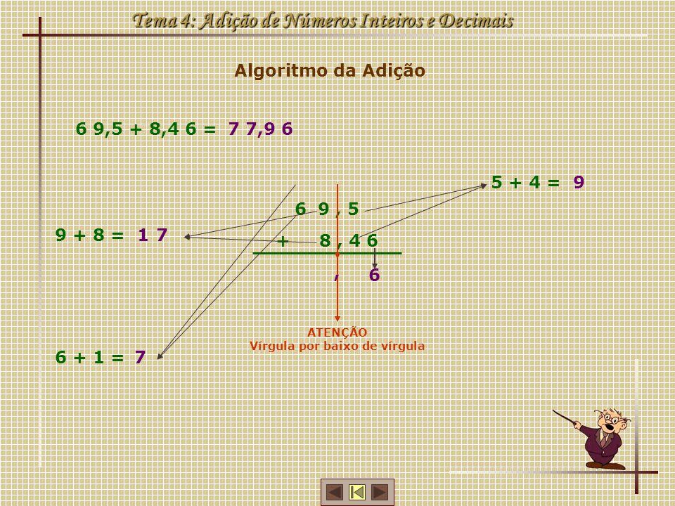 Tema 4: Adição de Números Inteiros e Decimais