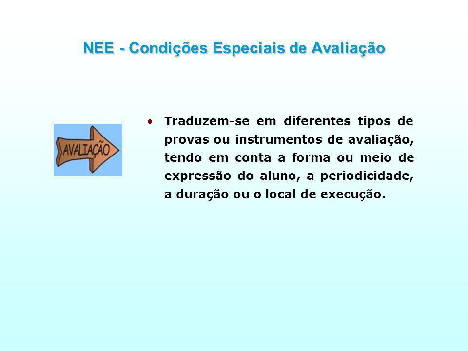 NEE - Condições Especiais de Avaliação
