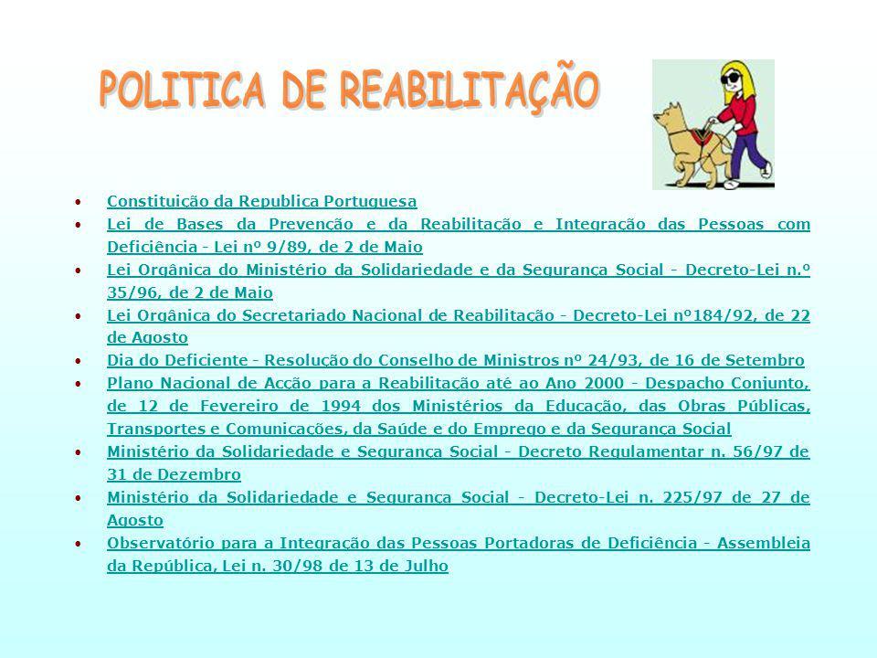 POLITICA DE REABILITAÇÃO