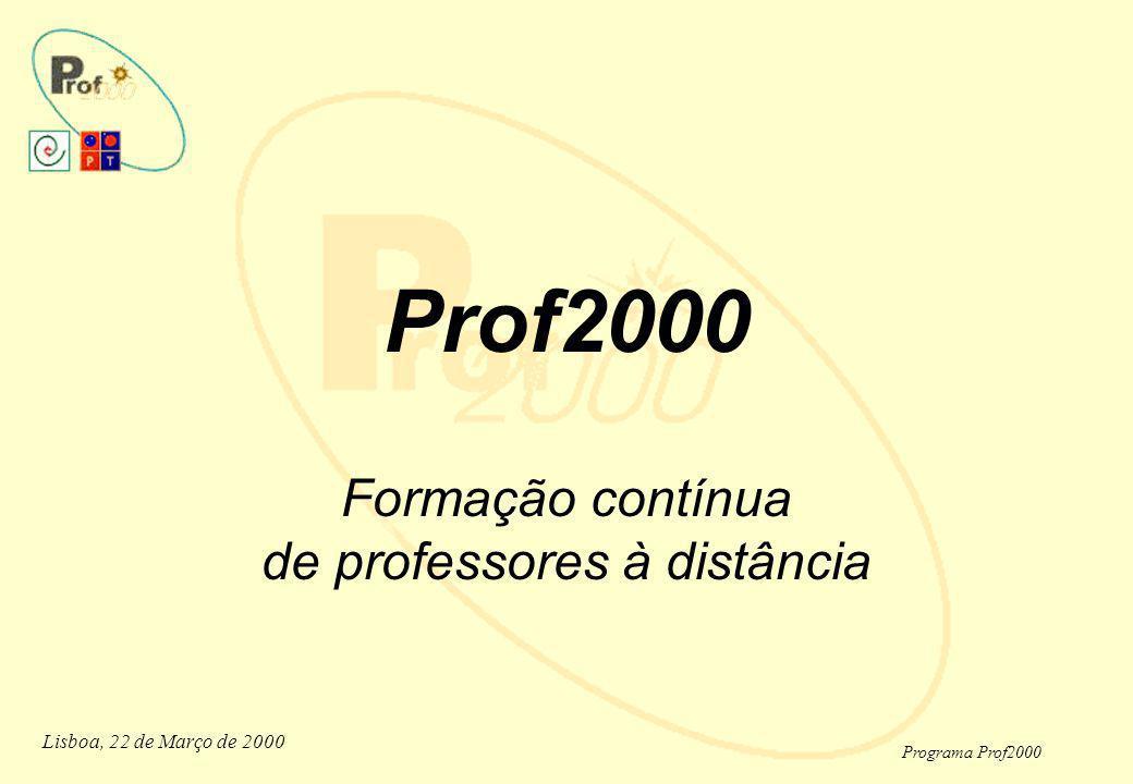 Prof2000 Formação contínua de professores à distância
