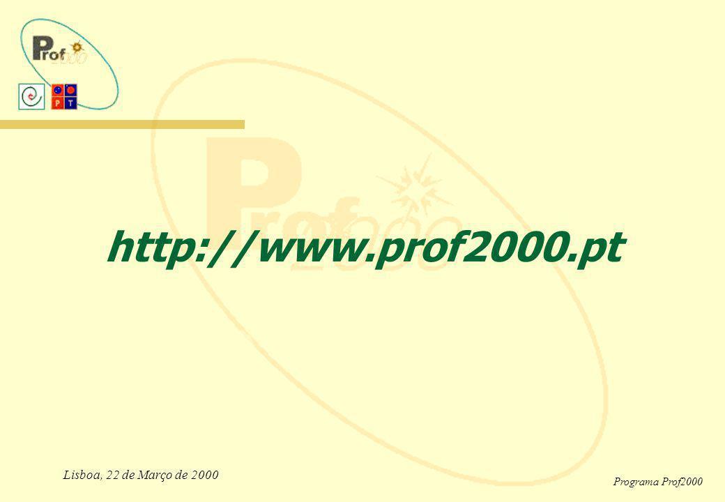 http://www.prof2000.pt Lisboa, 22 de Março de 2000 Programa Prof2000