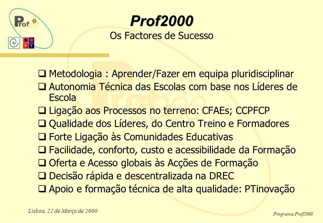 Prof2000 Os Factores de Sucesso