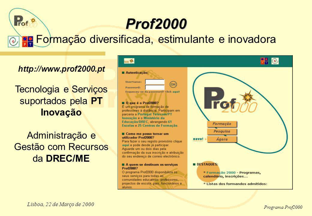 Prof2000 Formação diversificada, estimulante e inovadora