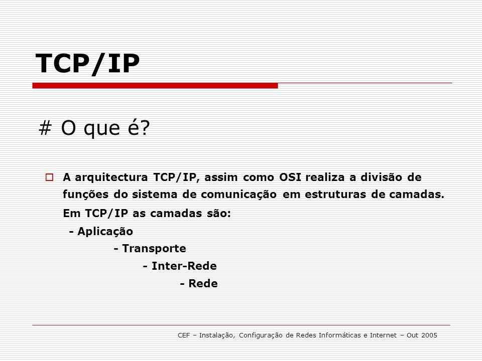 TCP/IP # O que é