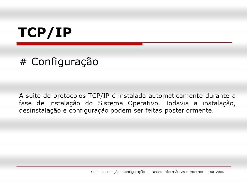 TCP/IP # Configuração.