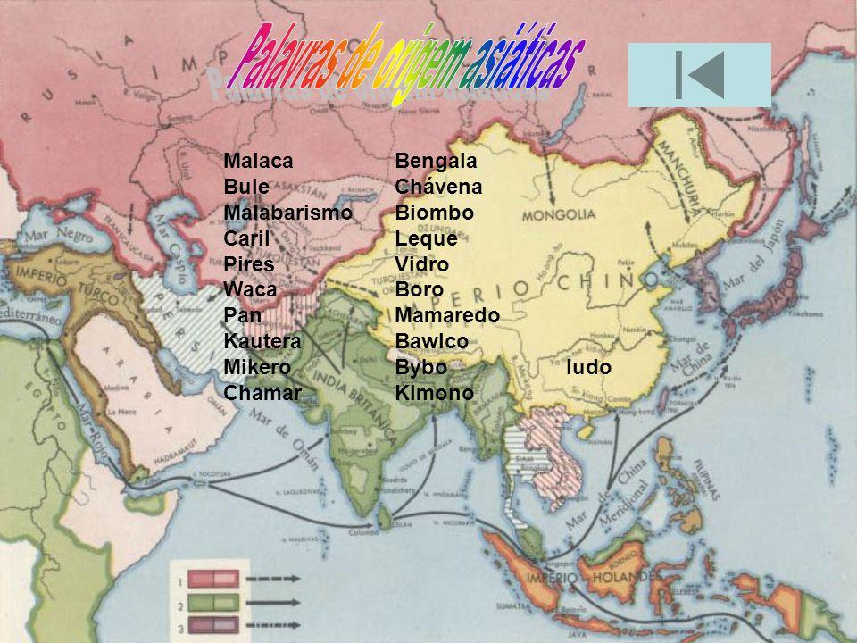 Palavras de origem asiáticas