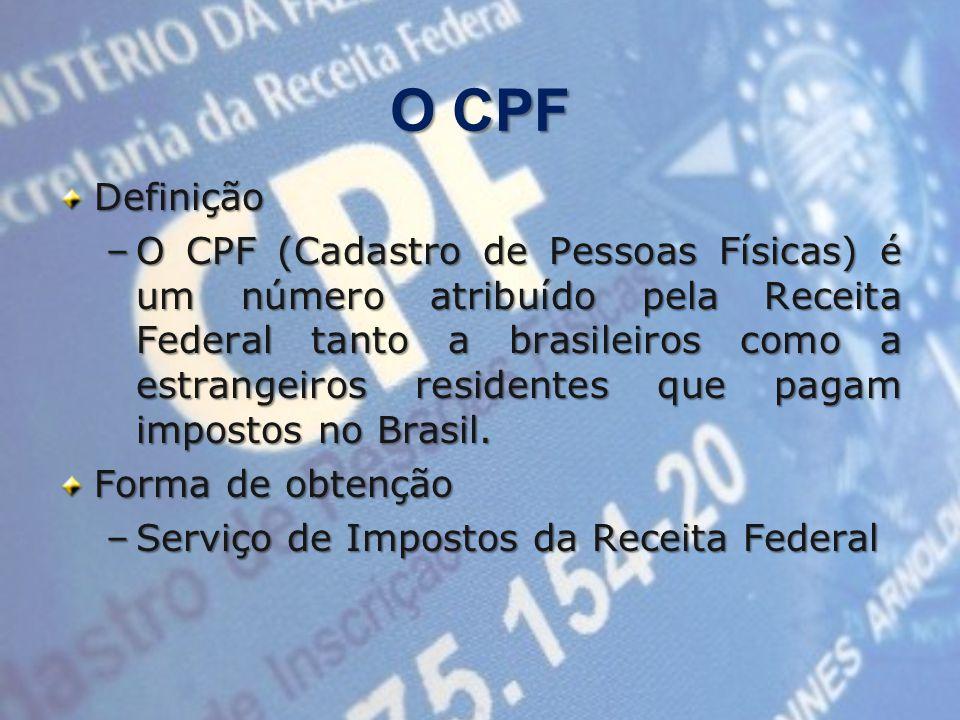 O CPF Definição.