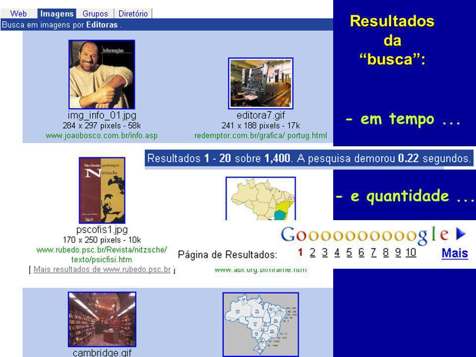 Resultados da busca : - em tempo ... - e quantidade ...
