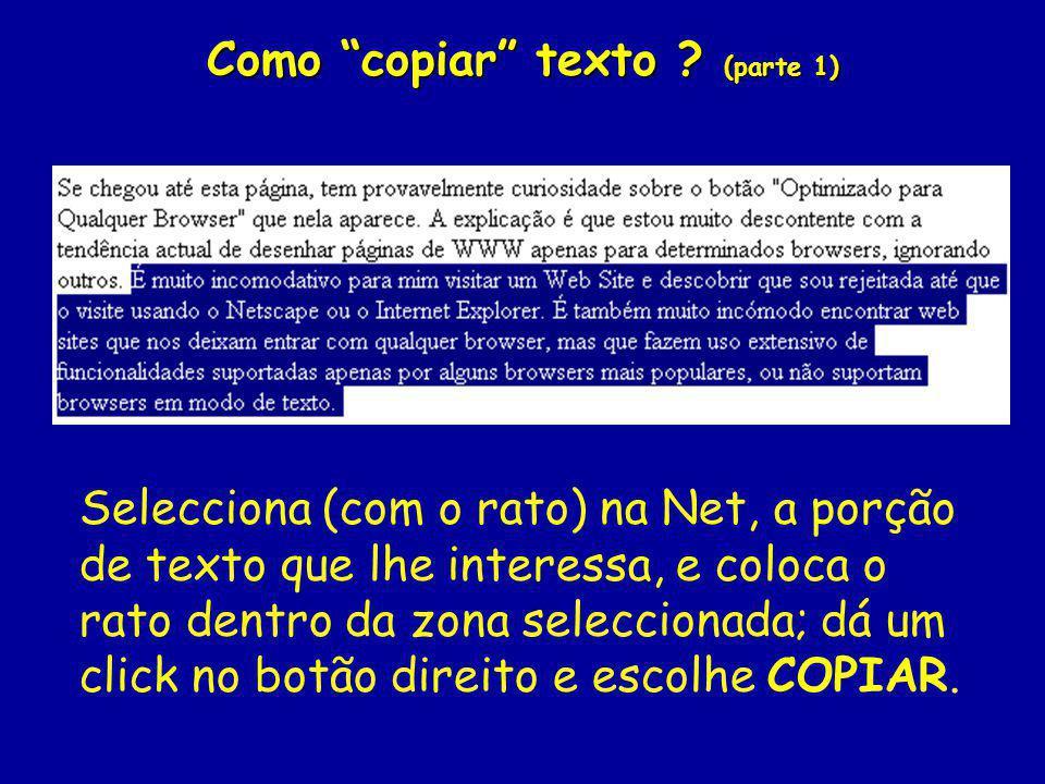 Como copiar texto (parte 1)