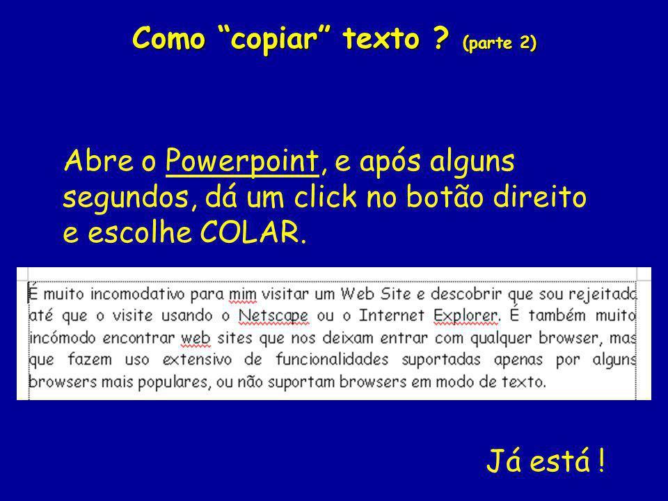 Como copiar texto (parte 2)