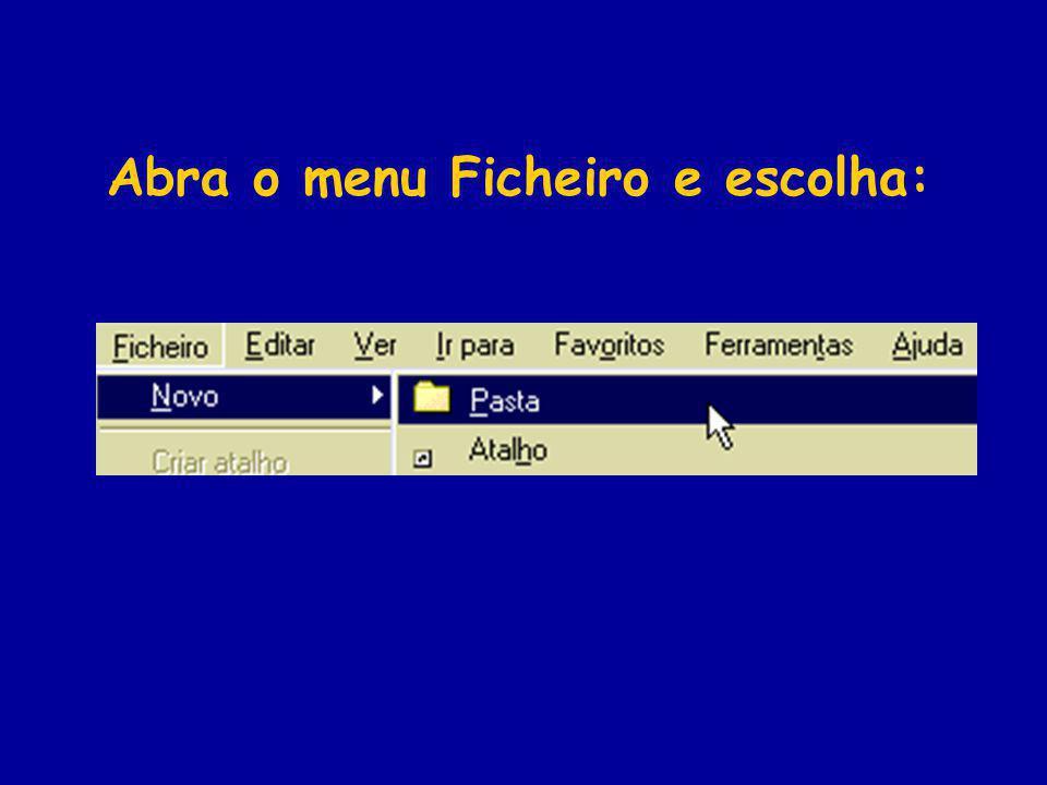 Abra o menu Ficheiro e escolha: