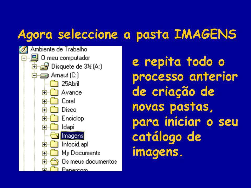 Agora seleccione a pasta IMAGENS